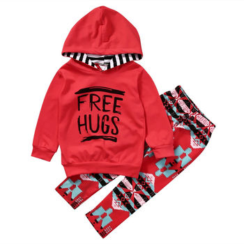 Casual Leisure Girls Kids Toddler Hoodie Tops Cotton Blend  Pants Leggings Outfits Set Clothes 1-6Y conjuntos casuales para niñas