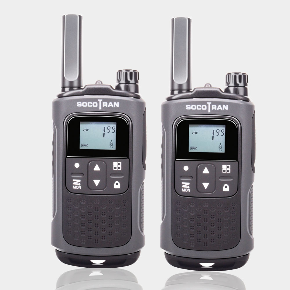 8 Channels PMR Two-Way Radio Walkie Talkies 2 Pack Rechargeable Walkie Talkies Radio 99 Privacy Codes Long Range Walkie Talkies for Adults Outdoor Activities//Camping//Team Communication