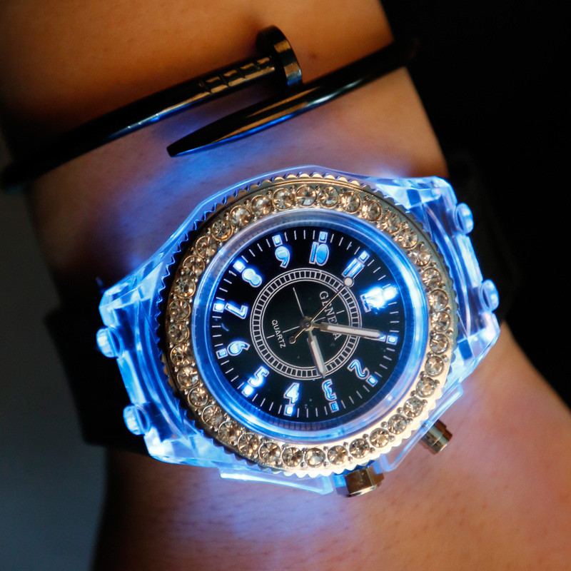 luxury LED FlashLuminous watch woman 2019 reloj Quartz casual Clocks womens watches ladies watch relogio loverslight WristWatch in Women 39 s Watches from Watches