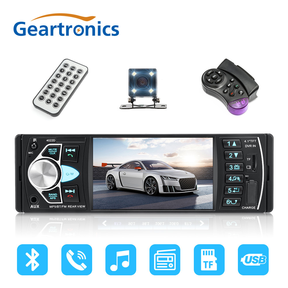 "1 din car radio auto audio stereo 4022d 4 1 inch autoradio bluetooth4022d car audio bluetooth handsfree car radio 4 1""inch hd large screen usb aux"