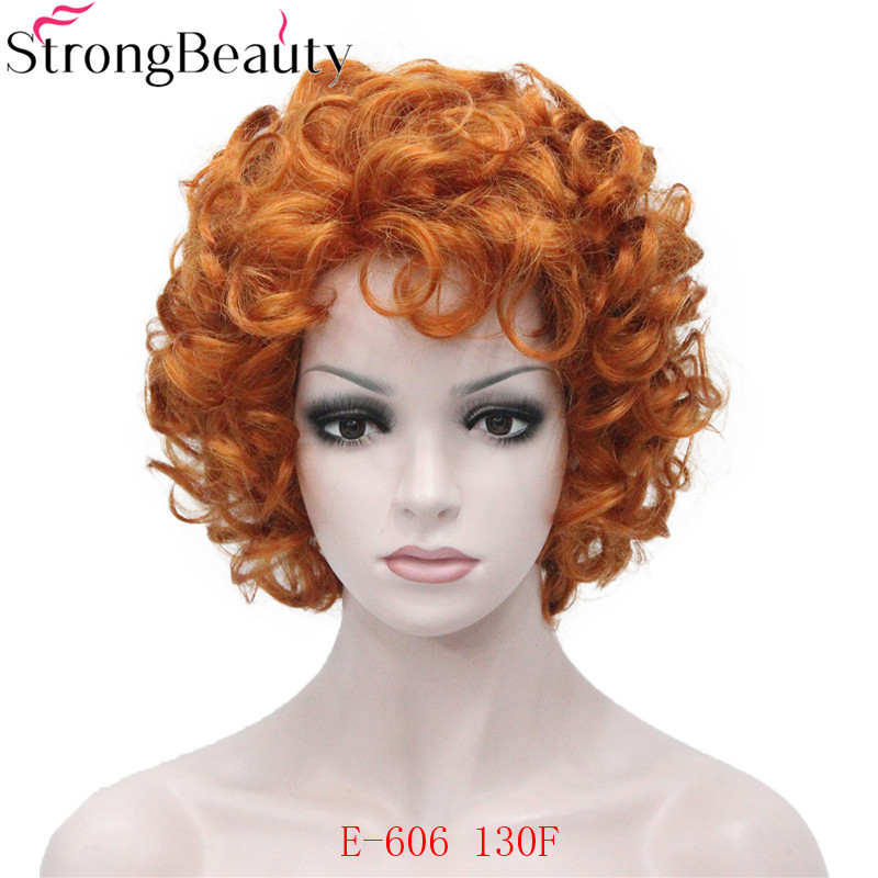 Image 5 - Strong Beauty Short Curly Wigs Synthetic Hair Capless Women WigSynthetic None-Lace  Wigs   -