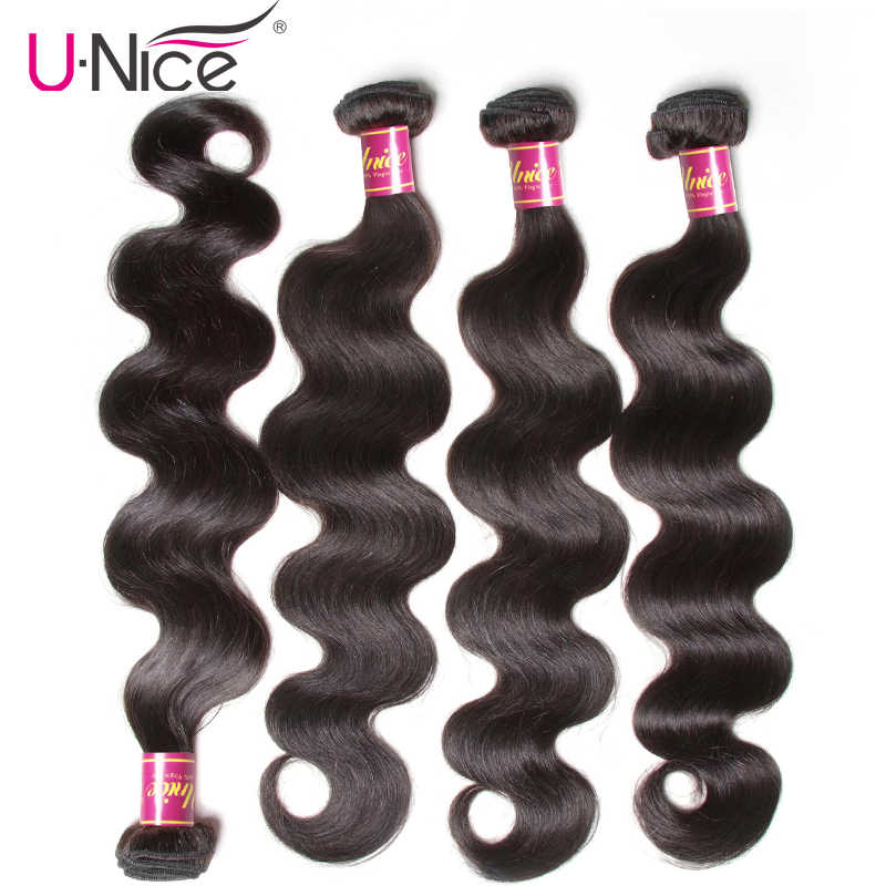 UNICE Hair Bundles Malaysian Body Wave 4 Bundles 100% Remy Hair Weaving Natural Color Human Hair Weaves 8-30inch Free Shipping