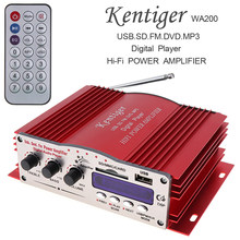 DC 12V HiFi Auto Car Stereo Power Amplifier Hi-Fi Digital Audio Player Support USB SD FM Radio MMC DVD MP3 Input(China)