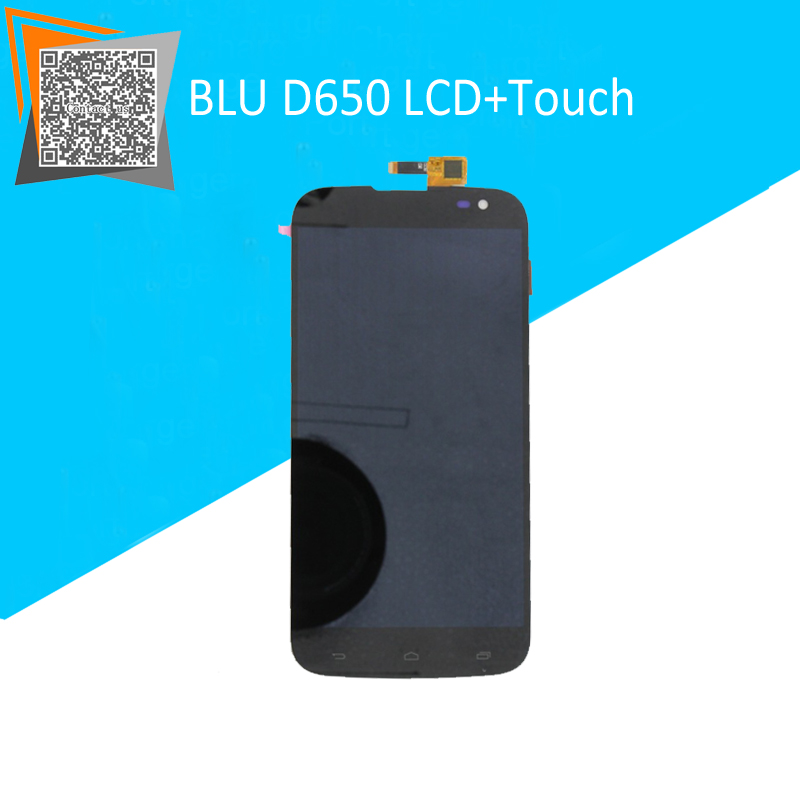 BLU D650 LCD Display With Touch Screen Assembly for BLU STUDIO 6.0 Smartphone Black Replacement parts