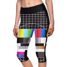 New 1100 Sexy Girl Women Old TV Programme Over 3D Prints Fitness Elastic Workout Cropped Trousers Leggings Pocket Pants