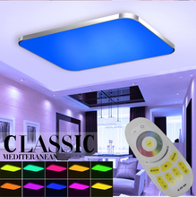 Ceiling Lights RGB 16 million color LED Ceiling Light Luminaria for Living Room Bedroom AC220V