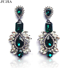 New Arrival statement big crystal shourouk stud Earrings for women girl party earring 3 colors wholesale