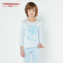 THREEGUN X Disney Cars Kids Pajama Sets Warm Pajamas for Toddler Girls Cotton Long Thermal Underwear Sleepwear Clothing