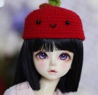D01 P476 children handmade toy 1/3 1/4 Doll Accessories BJD/SD doll wig Neat hair platycodon black 1pcs