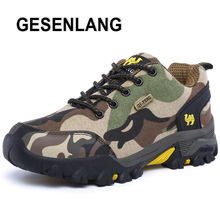BeiWeiTe 2017 Mens Camouflage Hiking Shoes Camel Trail Trekking Outdoor Sneakers For Men Rubber Antiskid Hunting Brand