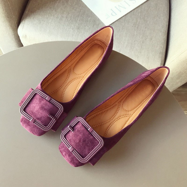 2020 modne buty damskie wiosna jesień mieszkania miękkie Slip On kobieta balet pojedyncza klamerka do butów damskie damskie obuwie Plus size