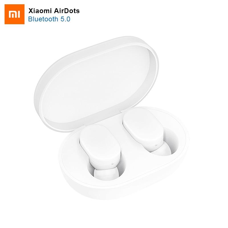 100% Original Xiao mi mi mi ni AirDots Estéreo de fone de Ouvido Bluetooth Versão Juventude Sem Fio Bluetooth 5.0 Headset Com mi c fones de ouvido