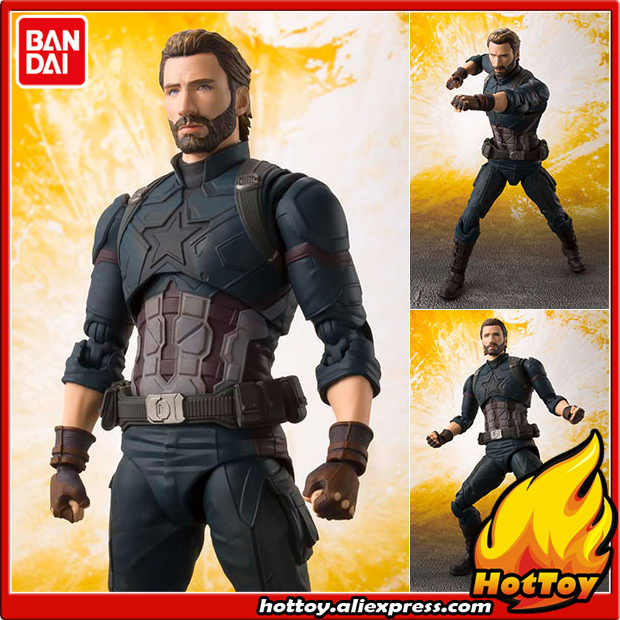 купить 100% Original BANDAI Tamashii Nations S.H.Figuarts (SHF) Action Figure - Captain America from