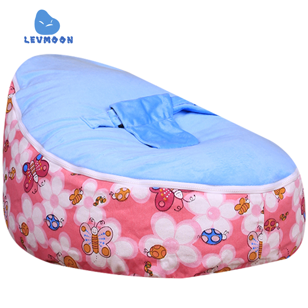 цена на Levmoon Medium Honeybee Beanbags Bean Bag Chair Kids Bed For Sleeping Portable Folding Child Seat Sofa Zac Without The Filler