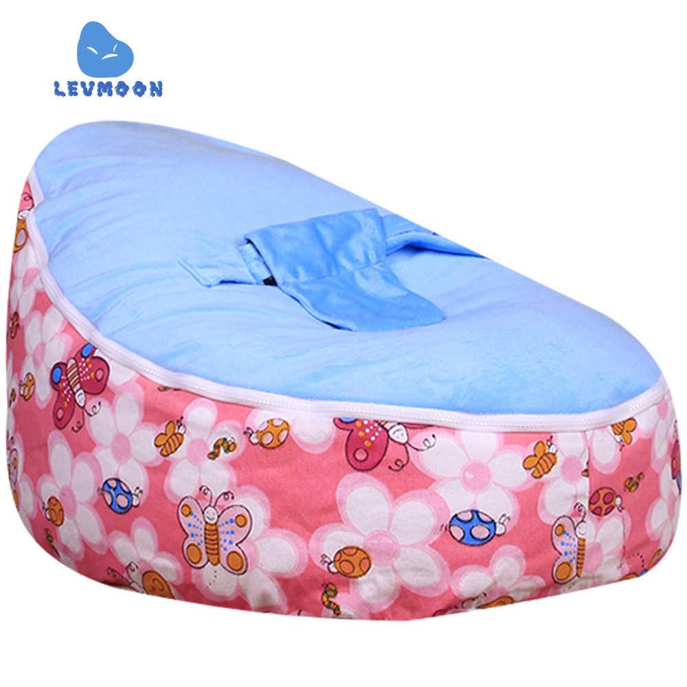 Levmoon Medium Honeybee Zitzakken Zitzak Stoel Kids Bed Voor Slapen Draagbare Vouwen Kind Seat Sofa Zac Zonder Vulmiddel
