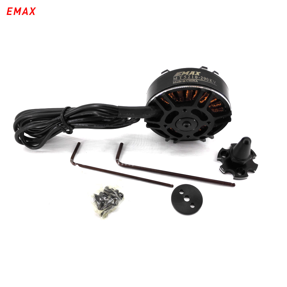 EMAX MT5210 rc brushless motor 290kv drone multi axis copter 6mm shaft outrunner for fpv quadcopter electric parts 4pcs 6215 170kv brushless outrunner motor with hv 80a esc 2055 propeller for rc aircraft plane multi copter
