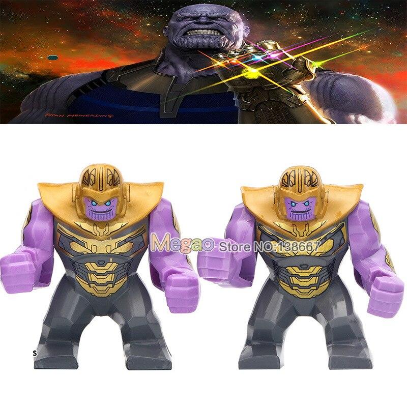Oyuncaklar ve Hobi Ürünleri'ten Bloklar'de 50 adet/grup Avengers 4 Endgame 7 CM Büyük Boy Thanos Infinity Savaş Yapı Taşları Için Hediyeler çocuk oyuncakları'da  Grup 1