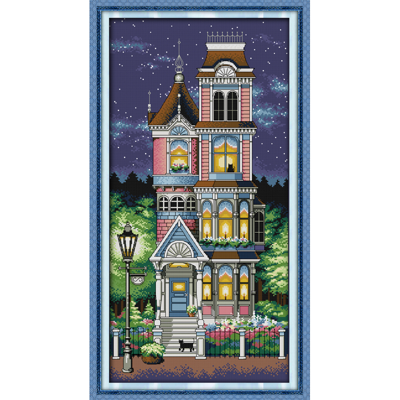 Everlasting love Christmas A quiet night Ecological cotton Cross Stitch stamped printed 11 14CT DIY Printed decorations for home