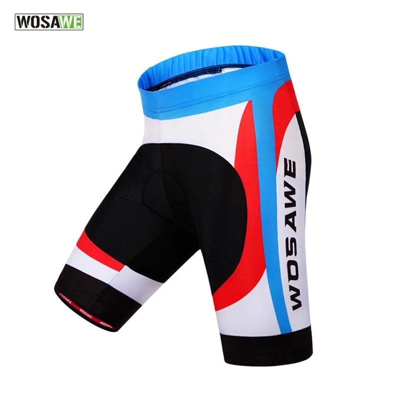WOSAWE профессиональные MTB дышащие велосипедные шорты 3d гелевые велосипедные шорты летние спортивные велосипедные шорты XXL - Цвет: Многоцветный