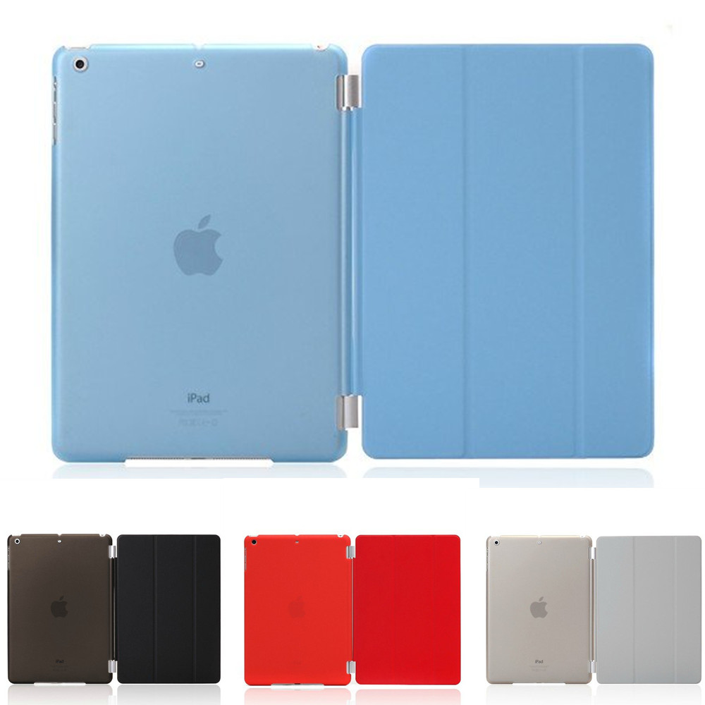 Ultra Slim Pu Leather Three Folds Cover + Plastic Case For Ipad Air 1 2 Pro 9.7 Ipad 2017