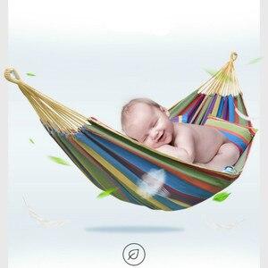 Image 5 - أرجوحة في الهواء الطلق للكبار/الأطفال مفرد/مزدوج مضاد للانقلاب قماش أرجوحة طالب كرسي معلق colgante hangmat