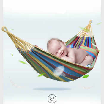 Outdoor Hammock Adult/Children Single/Double Anti-rollover Fabric Canvas Hammock Student Hanging Chair colgante hangmat