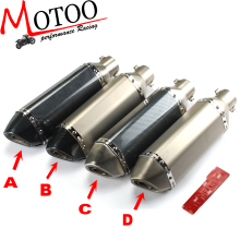 Motoo – Universal 36-51mm Motorcycle exhaust Modified Scooter  Exhaust Muffle GY6 for HONDA R1 R3 R6 FZ6 Z1000 GSXR600
