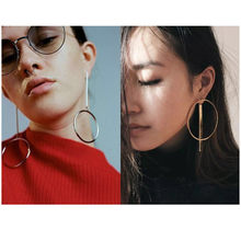 2017 New Vintage gold Color Earrings For Women Style Accessories Dangle Earrings Mujer Jewelry Retro Aros Long Love Brinco(China)