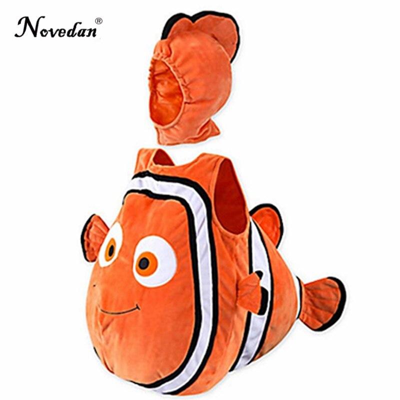 Nemo Costume Baby Kids Fish Clownfish From Pixar Animated Film Finding Nemo Halloween Christmas Cosplay Costume