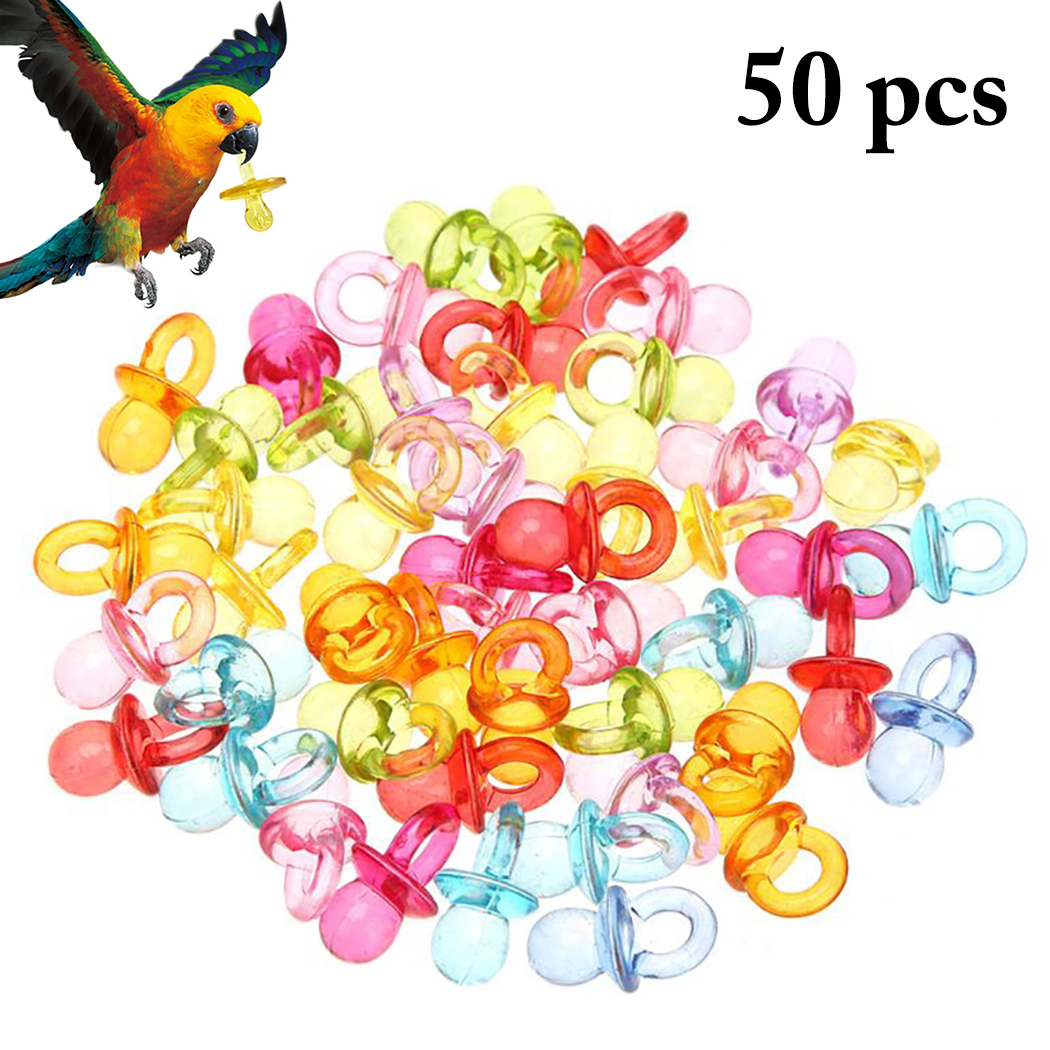 50PCS Bird Toy Nipple Shape Bird Chew Toy font b Pet b font Teething Toy Parrot