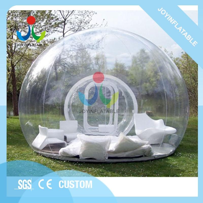 Tente transparente de camping igloo gonflable de bulle de 6X4 M avec imperméable et ignifuge
