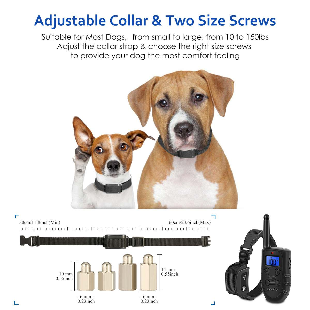 Digoo DG PPT1 Rechargeable Electronic Dog Training Collar with Vibration and Static Stimulation 4