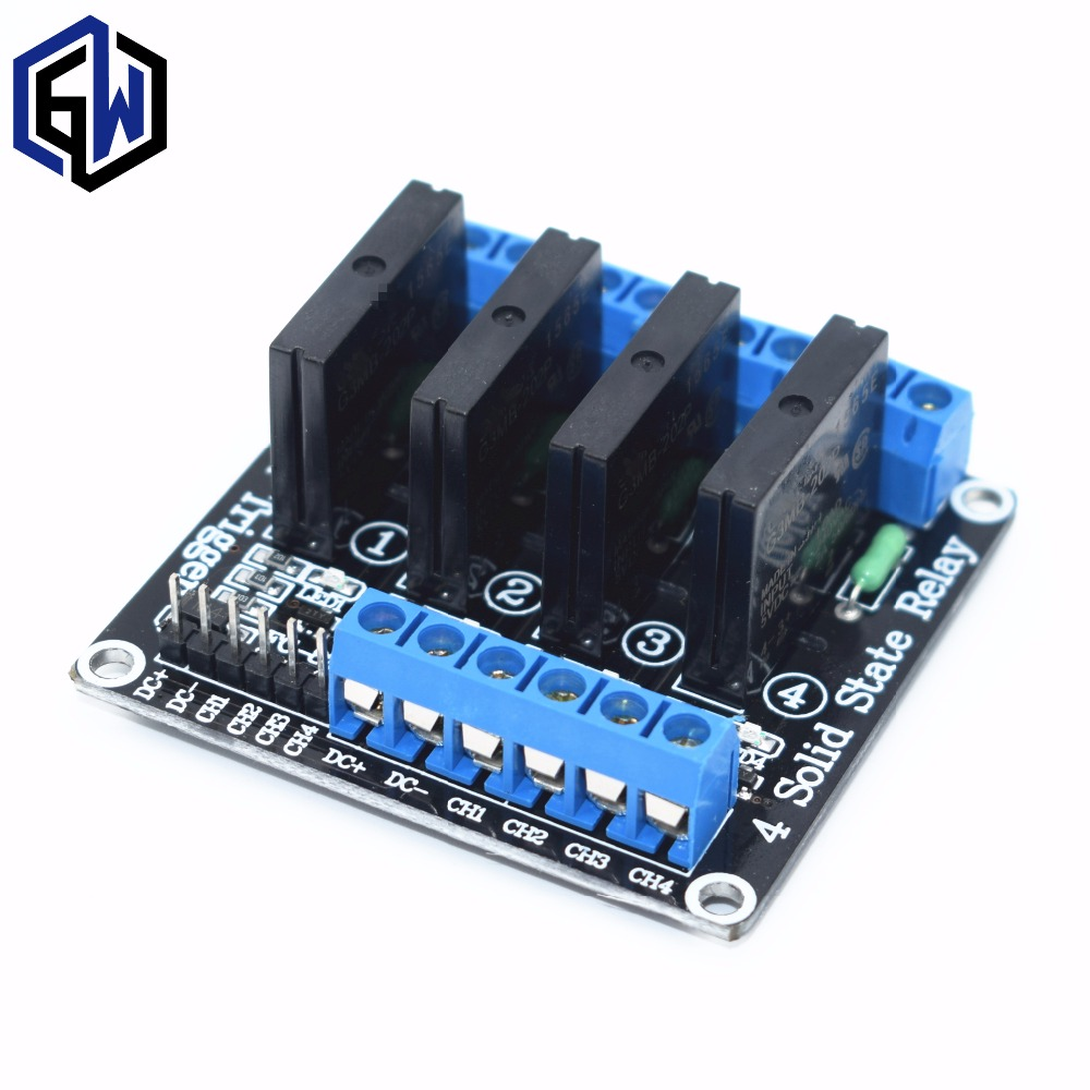 TENSTAR ROBOT 4 Channel 5V DC Relay Module Solid State Low Level SSR AVR DSP 2A 240V(China)