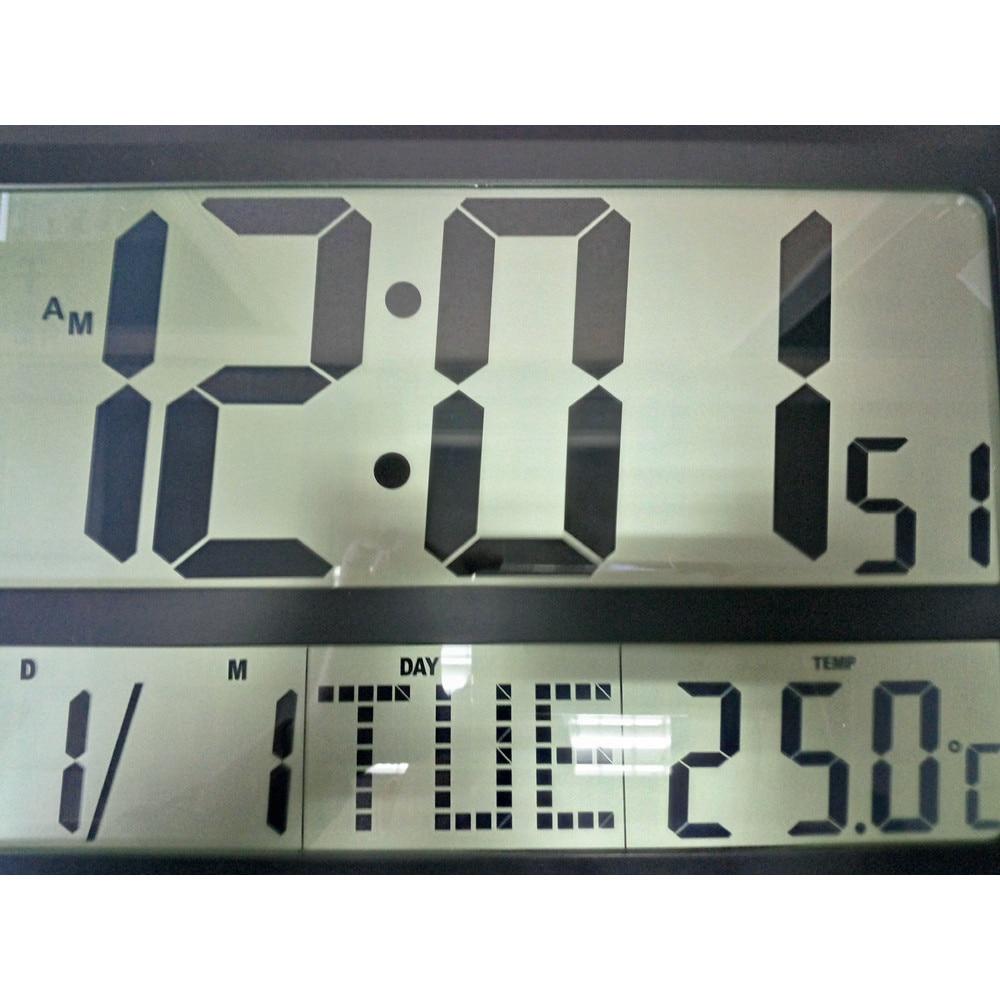 Aliexpresscom Buy Large Display LCD LED Digital Wall Clock