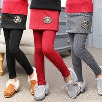 2017 New Winter Girl Legging Skirt Pant Baby Girl Winter Warm Thickening Leggings Children Girls Bootcut