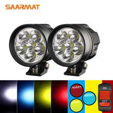 2 Pieces/set White Yellow Blue Red Led motorcycle headlight LED DIY AUTO Spotlight fog lights Super bright Universal DRL 12V bicycle 2 white led headlight 2 red led taillight set black 2 x cr2032 pair