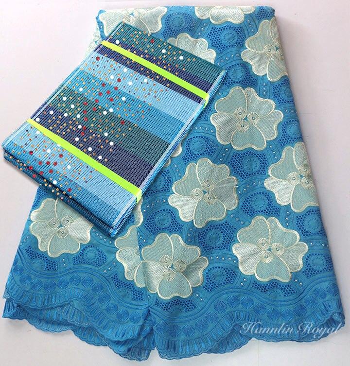 5 metrów szwajcarski woal koronki tkaniny afryki koronki nigerii tkaniny bawełniane tkaniny z 1 PC gwiaździste Aso Oke headtie gele opakowanie sprzedawane razem w Koronka od Dom i ogród na  Grupa 3