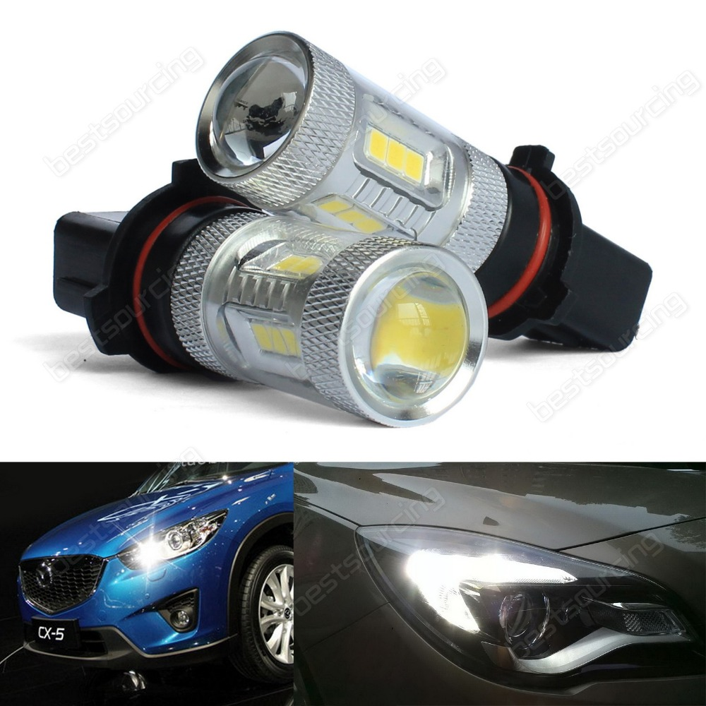 10 X  Pure White 15 SMD 2835 LED light  LED Headlights 6000K  P13W SH23W Projector Fog Daytime Running Light (CA219) new arrival a pair 10w pure white 5630 3 smd led eagle eye lamp car back up daytime running fog light bulb 120lumen 18mm dc12v