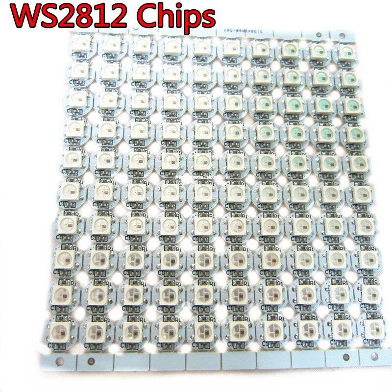 WS2812B ws2812 LED chips With Black/White PCB Heatsink (10mm*3mm ...