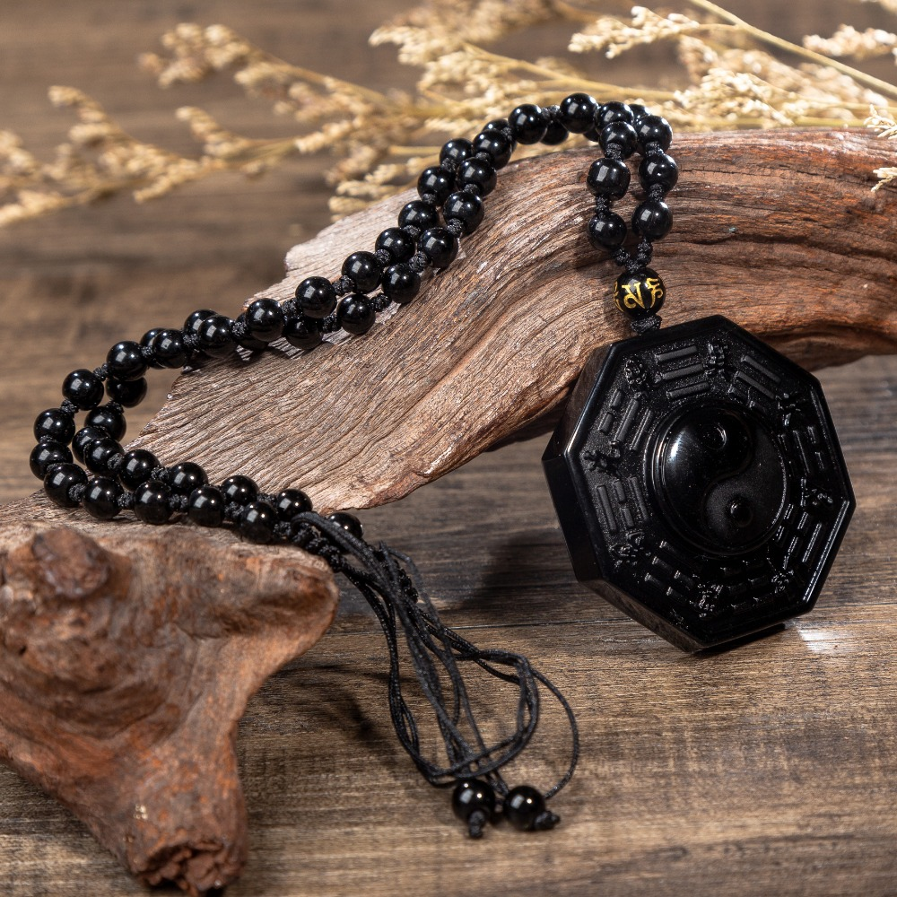Traditional Obsidian Bagua Pendant 1