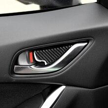 4 יח\חבילה סיבי פחמן דלת פנימי ידיות דלת קערת דקורטיבי עבור RRX Mazda 012 CX 5 רכב מדבקות רכב סטיילינג 4.72x3.93x3. 14 ″
