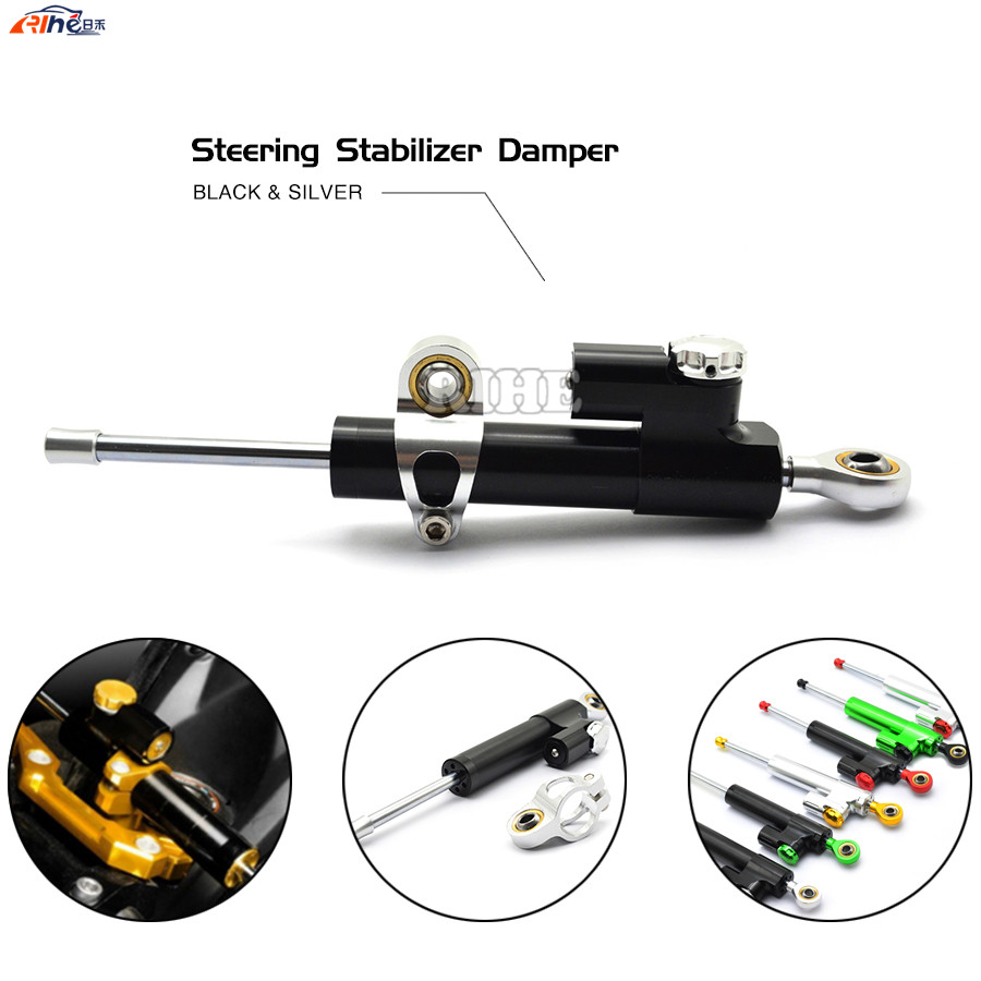 Steering Damper Universal Motorcycle CNC Stabilizer Linear Reversed Safety Control For SUZUKI Aprilia Honda BWM Kawasaki Ducati new universal motorcycle adjustable steering damper stabilizer fits for honda yamaha kawasaki suzuki ducati