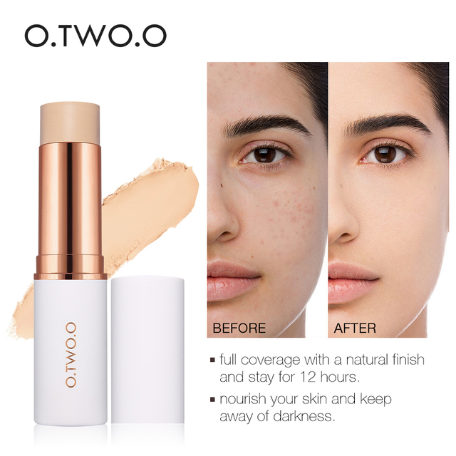 O.TWO.O Face Foundation Stick Makeup Matte Effect 6 Color Waterproof Long Lasting Concealer Face Contour Cosmetic