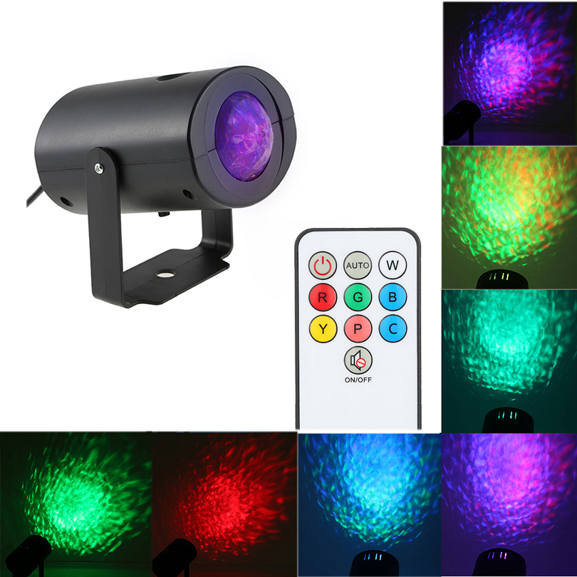 LED RGB Water Wave Ripple Effect Projector Disco Stage Lighting Show Laser Projector for Disco KTV Wedding Home Party Concert 3 lens rgb 24 48 patterns mixing laser projector stage lighting effect blue wave led stage lights show disco dj party lighting