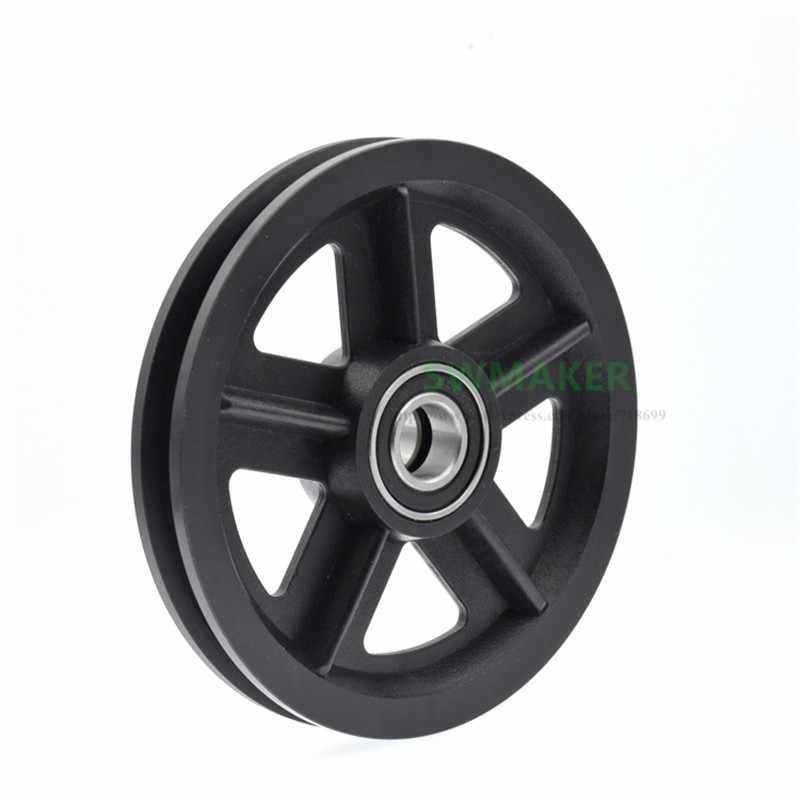 1pcs 15*120*16.5mm scanalatura U-a forma di ruota in nylon per Americano porta della stalla, 6002RS cuscinetto della puleggia/pista carroponte/ruota di guida