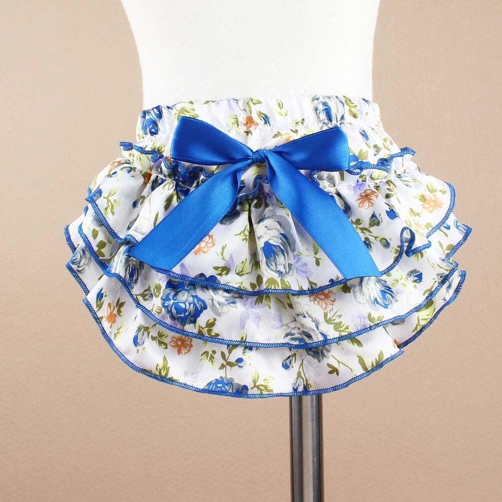 Sommar Satin Ruffle Babyblöjor Tutu Style Nyfödda Blöjor Lock - Babykläder