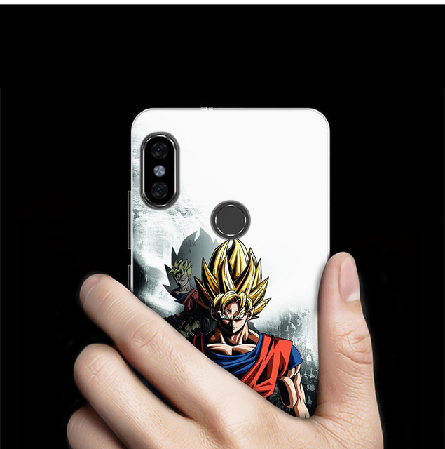 KMUYSL Dragon Ball Z Anime Goku Super Drawings Silicone Case Cover for Xiaomi Mi A2 Lite Redmi 6 6A Note 5 5A Pro Prime S2 Y2 6X 3