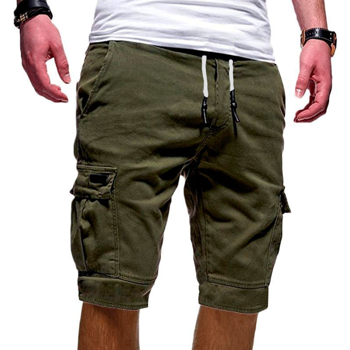 Laamei Hot-Selling Fitness Casual Workout Short Pants Men's Multi-pocket Sports