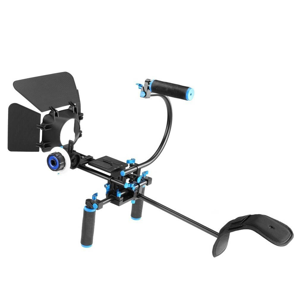 DSLR Rig Camera Shoulder Stabilizer Movie Film Support Kit Follow Focus Matte Box for Canon Nikon Sony BMCC GH4 Video Camcorder in Photo Studio Accessories from Consumer Electronics