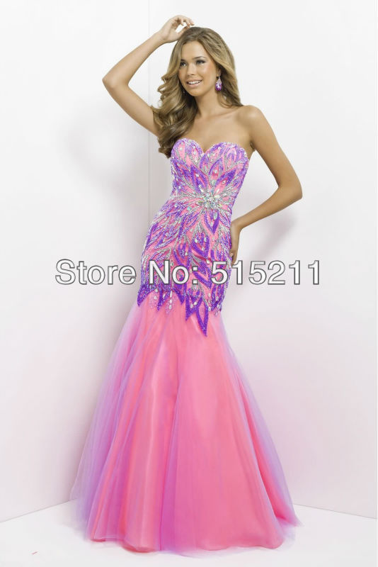 Pink Peacock Prom Dress